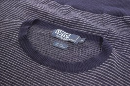 Polo Ralph Lauren Crew Neck Sweater Size XL In Blue W/ Gray Horizontal S... - $11.99
