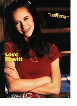 Jennifer Love Hewitt Joey Gordon Levitt teen magazine pinup clipping red shirt
