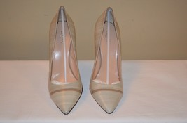 Calvin Klein Collection Beige Leather Womens Heels Size 10 MSRP $695 - $379.99