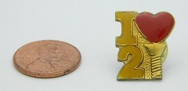 Late 1970's Early 1980's I Love 2 Screw Red Yellow Enamel Hat Lapel Pin B - $7.92