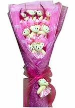 PANDA SUPERSTORE Cute Fashion Pink Bear Flower (Random Pattern)