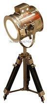 Tripod Table Lamp Marine Nautical Search Light By Nauticalmart - $117.81