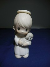 Precious Moments Shepherd of Love 1986 Figurine with Lamb - $7.99