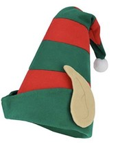 Christmas Santa Elf Festive Holiday Felt Hat With Ears Costume Accessory... - €7,04 EUR