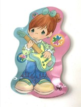 "Precious Moments Sam B girl playing guitar 11"" plastic plate 2006 Gibson - $13.50"