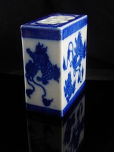 Antique Foo Dog opium pillow - vintage mythical protectors - chinese box image 4