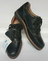 NEW Rockport Black Leather Sneakers Men's sz 10 M A12368 Oxford shoes - $89.10