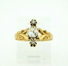 10k Rose Gold Victorian Rose Cut Genuine Natural Diamond Ring (#J4391) - $950.00
