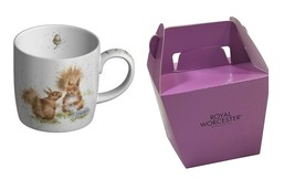 2 x Official Licensed Boxed Wrendale Red Squirrels Porcelain Mugs Cups - $23.81