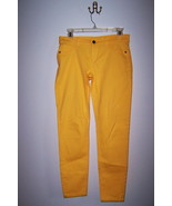 NY&C Bright Yellow Skinny Stretch Jeans Ankle Legging Ladies Size 2 - $10.99