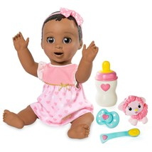 New in Box Luvabella Interactive Doll Dark Brown Speaks English & French - $116.96