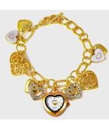 Charm Heart Bracelet Watch in Gold tone 7.5-9 in MOTHERS DAY - $28.70