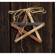 Patriotic LATH PICK STAR Country Farmhouse Americana Wood Wall Hanging S... - $33.99