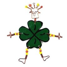 Dancing Girl Luck of the Irish Pin Fair Trade Handcrafted Jewelry Accessory - $4.00