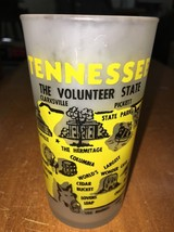 Vintage Retro Souvenir State Glass Tumbler Frosted Yellow Tennessee Haze... - $16.78