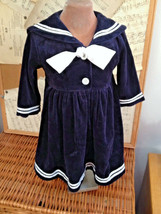 Toddler Girl SAILOR DRESS Baby 12 mo Portrait BEACH PHOTO Good Lad Navy ... - $28.90