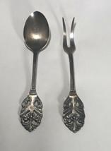 "Vintage Sweden EXPRNS 4"" Ehrenberg Silverplate Rose Condiment Spoon Lemo... - $14.85"
