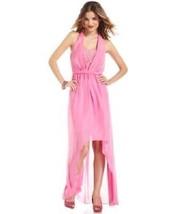 Jessica Simpson Dress Sz 2 Super Pink Halter Lace Detail Bust Party Cock... - £49.34 GBP