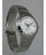 Seiko mens watches premier kinetic auto relay date stainless steel case ... - $346.94