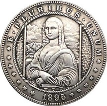 Hobo Nickel HAND MADE  1895 USA Morgan Dollar CARVED COIN - $11.99