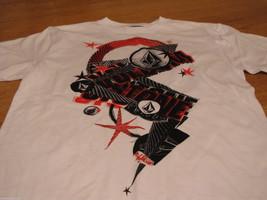 Boys youth kids Volcom Stone short sleeve white red black  TEE logo XL t shirt image 1