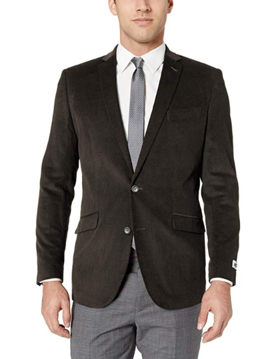 Primary image for Kenneth Cole Unlisted Men's Corduroy Blazer, Gray,Size 40 Long,
