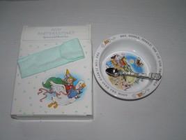 Vintage 1984 AVON Baby's Keepsake Nursery Rhyme Metal Spoon & Stoneware ... - $13.99