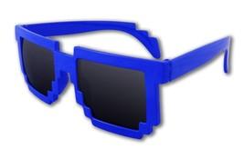 8-Bit Pixel Retro Computer Sun Glasses Nerd Sunglasses 8 Bit (Blue) - $13.48