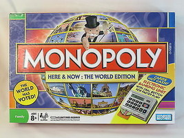 MONOPOLY Here & Now THE WORLD EDITION HASBRO 2008 NEAR MINT CONDITION - $29.95