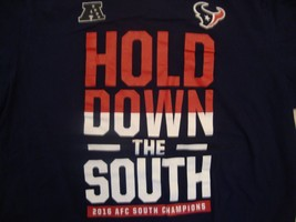 NFL Houston Texans Football Blue T Shirt Size XL 2016 AFC South Champions - $17.81