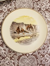 Frederick Remington New Year in the Cimarron Vintage Gorham Collector Plate - $21.02