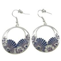 Wholesale Lot 10 Silver Tone Blue Violet Enamel... - $16.83