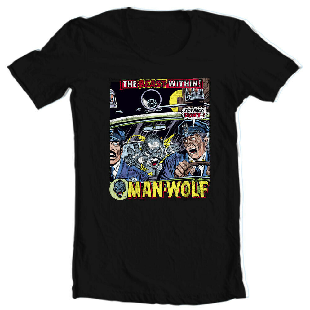 Man-Wolf T Shirt retro 1970s Marvel Comics graphic tee Creatures on the Loose