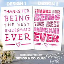 Thank You for being my Bridesmaid Maid of honour Flower girl Sister Wedd... - $2.15