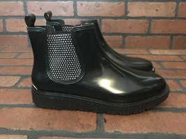 MICHAEL KORS Lulu Stud Chelsea Rain Boots short sz 9 women - $72.33