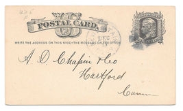 UX5 New Britain CT 1879 Fancy Cork Cancel Wedges Stanley Works Order Pos... - $4.99
