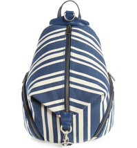 Rebecca Minkoff Julian Canvas Backpack, HH17FCTB01, Navy Stripe, MSRP $275 - $178.19