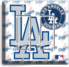 LOS ANGELES DODGERS LA BASEBALL TEAM 2 GANG GFI LIGHT SWITCH PLATE BEDRO... - $11.69