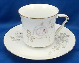 Johann Haviland Sweetheart Rose Tea Cup and Saucer Set 8 oz Pink Yellow Roses - $9.90