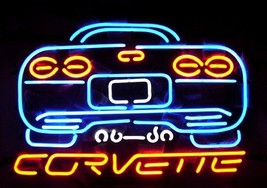 Corvette Neon Sign Handcrafted Real Glass Tube Neon Light Sign - $124.95+