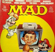 MAD Magazine Jan 1990 No 292 Nintendo Super Mario Bros Video Game Arcade Cover - $31.19