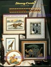 1998 Stoney Creek Collection Book 221 Stitching Safari * Cheetah Giraffe Zebra + - $7.87