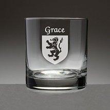 Grace Irish Coat of Arms Tumbler Glasses - Set of 4 (Sand Etched) - $56.79