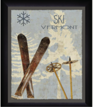 Ski Vermont 13 x 16 Retro Artwork Framed Print - $39.95