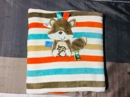 Taggies Multicolor Striped Baby Blanket Squirrel & Acorn - $37.62