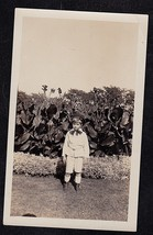 Antique Vintage Photograph Adorable Little Boy in Cute Outfit Standing i... - $5.35