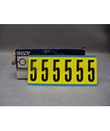"Brady #5 3450 Series Repositionable labels 3450-5 34505 numbers 3"" H Lot... - $90.18"