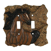 Rivers Edge New Horse Double Switch Plate Cover - $24.84