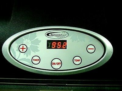 """Samson """"Silent"""" 6 Tray Dehydrator with Digital Controls PLUS 6 SILICONE SHEETS"""