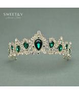 Luxurious Bridal Jewelry W/ Gems - Crystal Tiara Princess Party Crown Wo... - $27.98